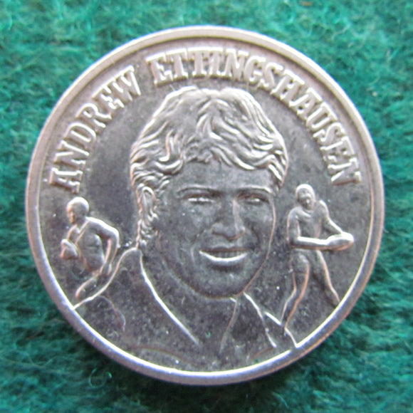 Andrew Ettingshausen 1991 Superstars of League Token Medallion Daily Telegraph