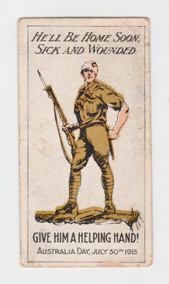 Anzac Day July 30th Cigarette Card Recruiting Posters Series
