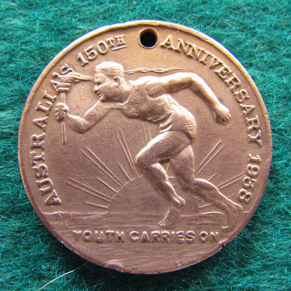 Australia 150th Anniversary Medallion 1938 - Youth Carries On