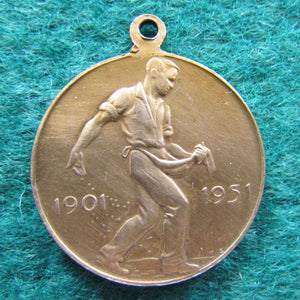 Fifty Years Commonwealth Of Australia Federation Anniversary Medallion 1901 - 1951