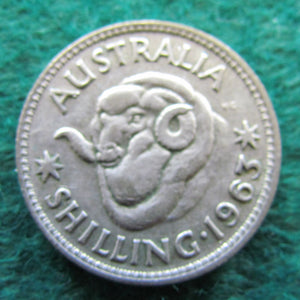 Australian 1963 Shilling Queen Elizabeth II Coin - Circulated
