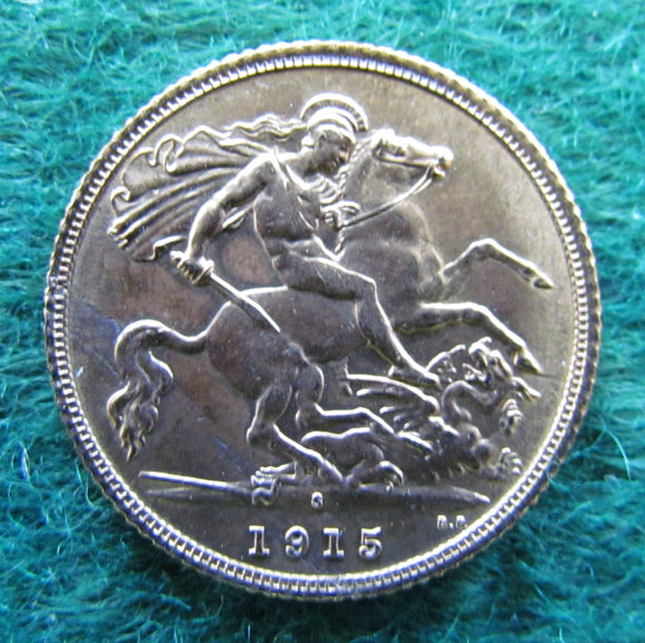Australian 1915 Half Sovereign Variety With Planchet Error - Circulated