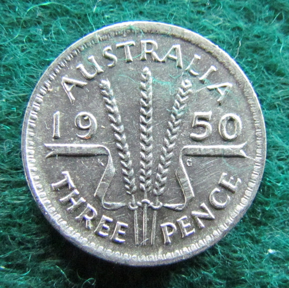 Australian 1950 Threepence King George VI Coin