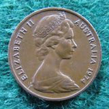 Australian 1974 1 Cent Queen Elizabeth Coin One Cent