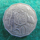 Australian 1983 Coat Of Arms 50 Cent Queen Elizabeth Coin - Circulated