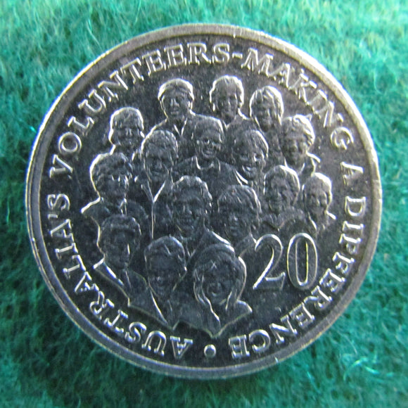Australian 2003 20 Cent Coin Australia's Volunteers Making A Difference - Circulated