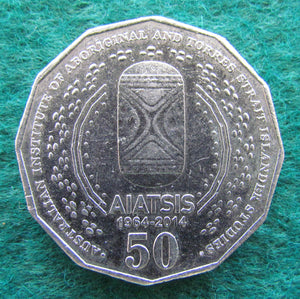 Australian 2014 50 Cent Coin AIATSIS - Circulated