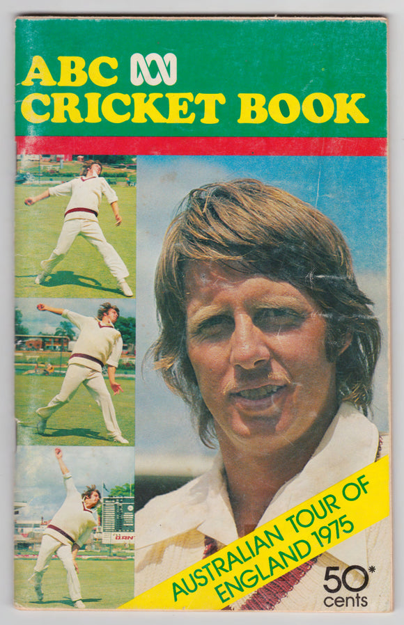 ABC Cricket Book Australian Tour Of England 1975