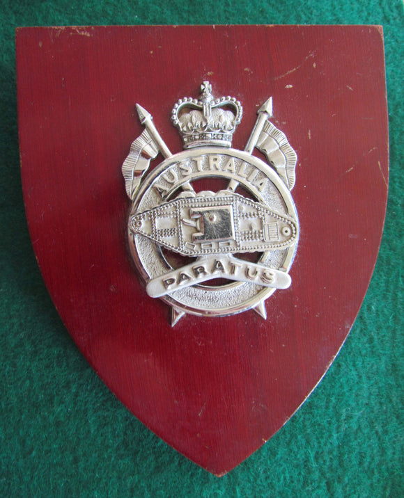 1st Armoured Regiment South Australia Wall Plaque 1949 -