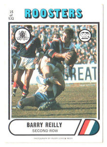 Scanlens 1976 NRL Football Card 25 of 132 - Barry Reilly - Roosters