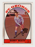 Scanlens 1968 A Grade NRL Football Card #08 - Barry Beath - St George