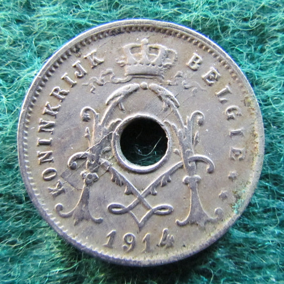 Belgium 1914 5 Centimes Coin German Occupation Currency - Circulated