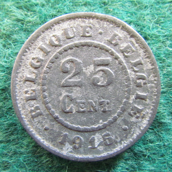 Belgium 1915 25 Centimes Coin German Occupation Currency - Circulated