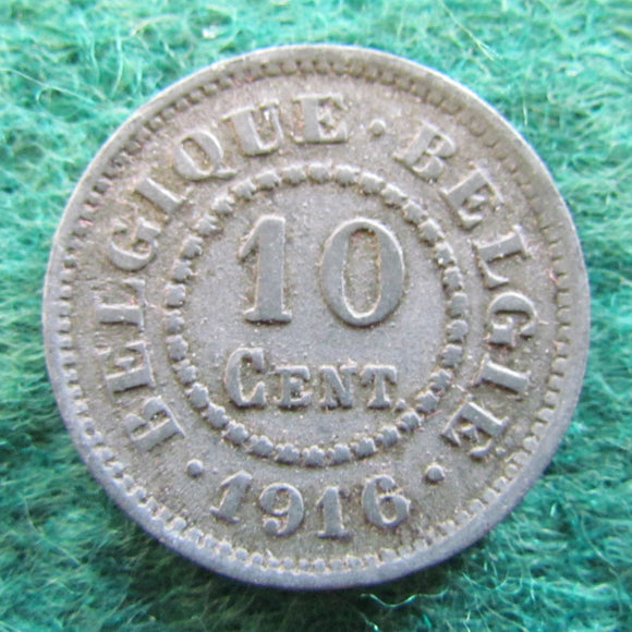 Belgium 1916 10 Centimes Coin German Occupation Currency