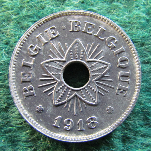 Belgium 1918 50 Centimes Coin German Occupation Currency - Circulated