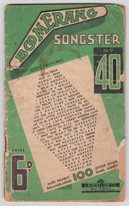 Boomerang Songster No. 40