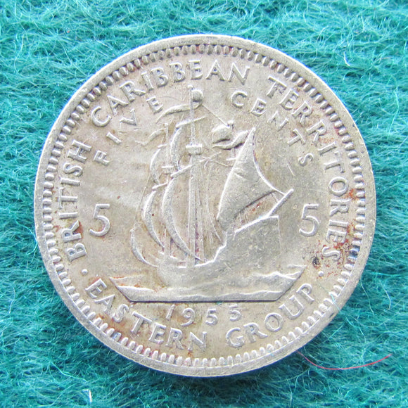 British Caribbean Territories Eastern Group 1955 Five Cent Queen Elizabeth II Coin - Circulated