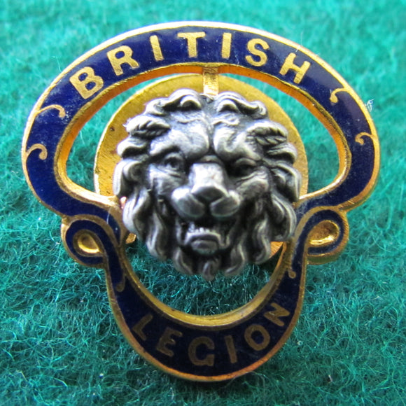 British Legion Golt Button Hole Badge Mid 1930's