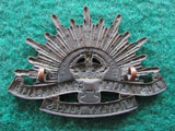 Rising Sun Australian Commonwealth Military Forces Cap Badge WWI Amor Sydney 3rd Version 1904