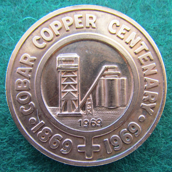 Cobar Copper Centenary 1869 - 1969 Medallion