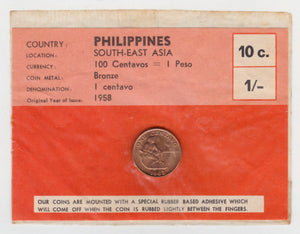 Phillipines 1963 1 Centavo Copper Coin