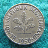 Germany 1950 G 10 Pfennig Coin - Circulated