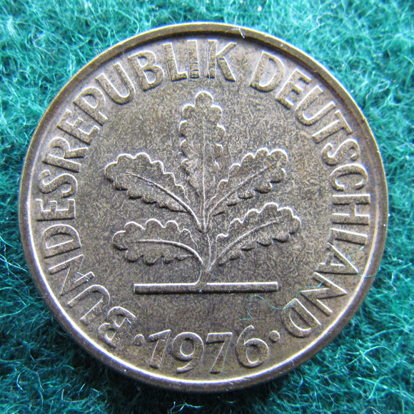 Germany 1976 D 10 Pfennig Coin