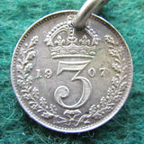 GB British UK English 1907 Threepence King Edward VII Coin