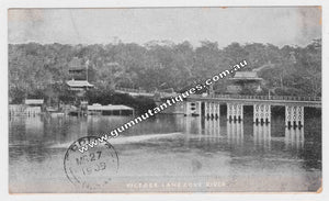 Postcard Figtree Lane Cove River 1909