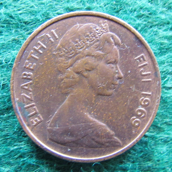Fiji 1969 2 Cent Queen Elizabeth Coin