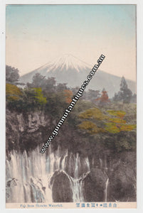 Postcard Fuji From Shiraito Waterfall c1905