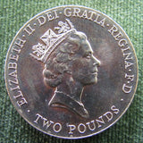 GB British UK English 1996 2 Pound 10th European Football Championship Queen Elizabeth Coin