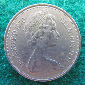 GB British UK English 1970 10 New Pence Queen Elizabeth II Coin