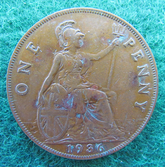 GB British UK English 1936 Penny King George V Coin