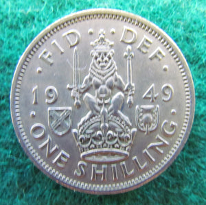 GB British UK Scottish 1949 1 One Shilling King George VI Coin