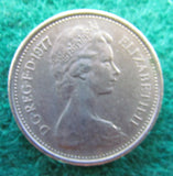 GB British UK English 1977 5 New Pence Queen Elizabeth II Coin