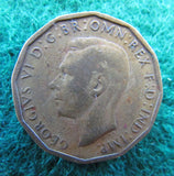 GB British UK English 1943 Threepence King George VI Coin