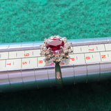 9ct Gold Ruby & Diamond Dress Ring 2.92gms