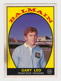Scanlens 1968 A Grade NRL Football Card #32 - Gary Leo - Balmain