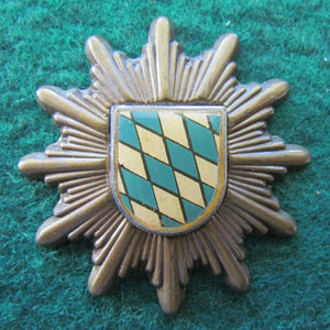 German Bayern Police Hat Badge