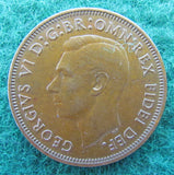 Australian 1951 Half Penny PL King George VI Coin