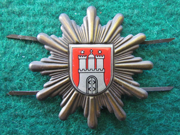 German Hamburg Police Hat Badge