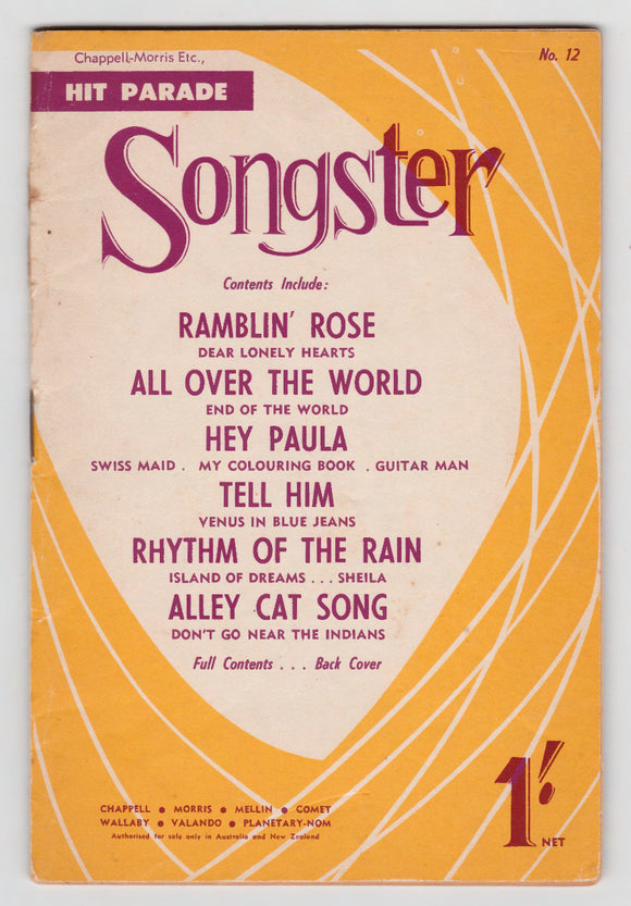 Hit Parade Songster No. 12 - Chappell Morris Etc