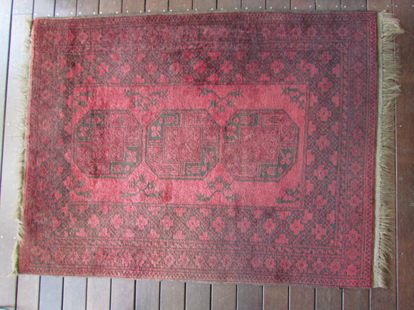 Vintage Persian Turkish Afghan Tribal Rug c.1940