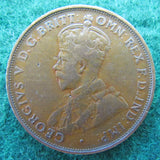 Australian 1919 1d 1 Penny Dot Below Scroll King George V Coin