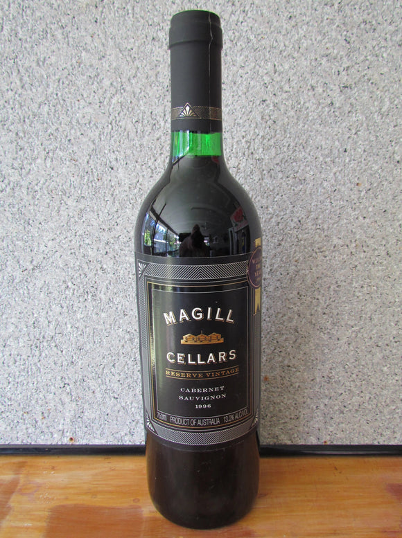 1996 Magill Cellars  Cabernet Savignon  Black Label Reserve Vintage 750 ml