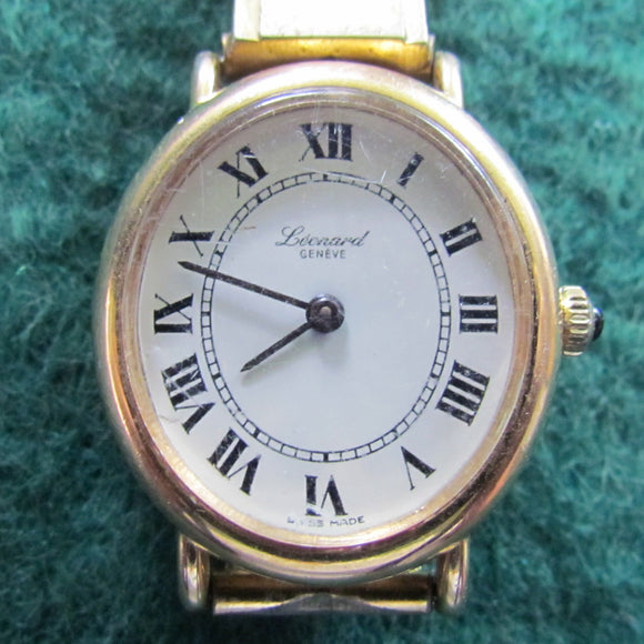 Leonard Geneve Swiss Made Mechanical Rolled Gold Ladies Wristwatch