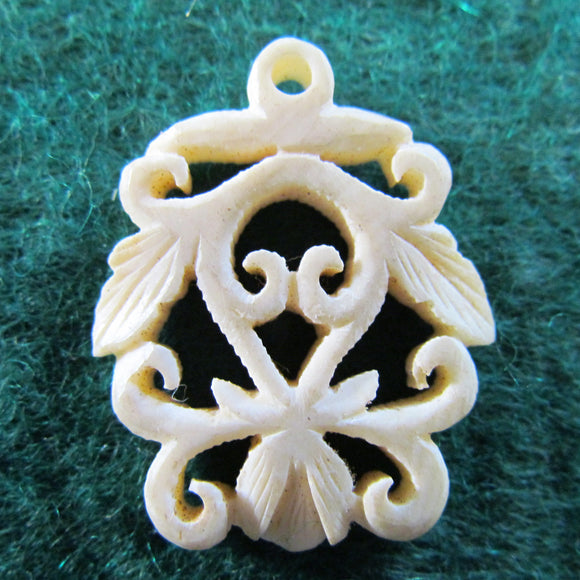Ivory Pierce Carved Pendant
