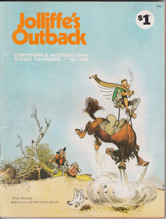 Jolliffe's Outback Cartoons And Australiana Study To Frame - Number 106