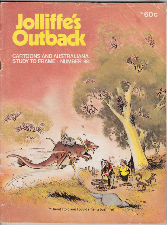 Jolliffe's Outback Cartoons And Australiana Study To Frame - Number 98